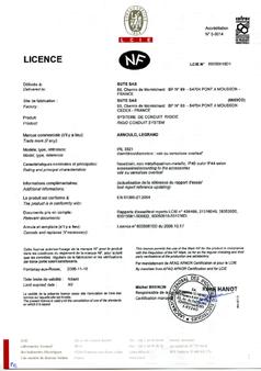 Accréditations - IRL 3321