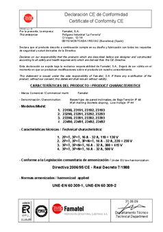 Certificat de conformité - Famatel